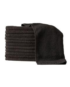 #TOWELC TOWELS BLACK BLEACH PROOF 12pk
